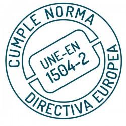 Cumple norma directiva europea UNE-EN 1504-2