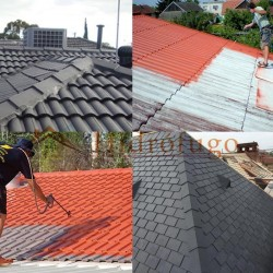 Aplicación pintura impermeabilizante Paint New Roof Idroless en variedad de colores