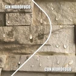 Efecto repelente del Hidrófugo de piedras, barros, granitos, tejas y materiales porosos