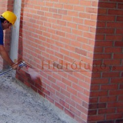Aplicación del hidrófugo fachadas Sopgal