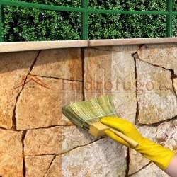 Aplicación de Hidrófugo de base barniz para paredes