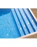 Tratamientos especiales para piscinas a base de morteros, pinturas, antideslizantes e impermeabilizantes para su conservación y mantenimiento