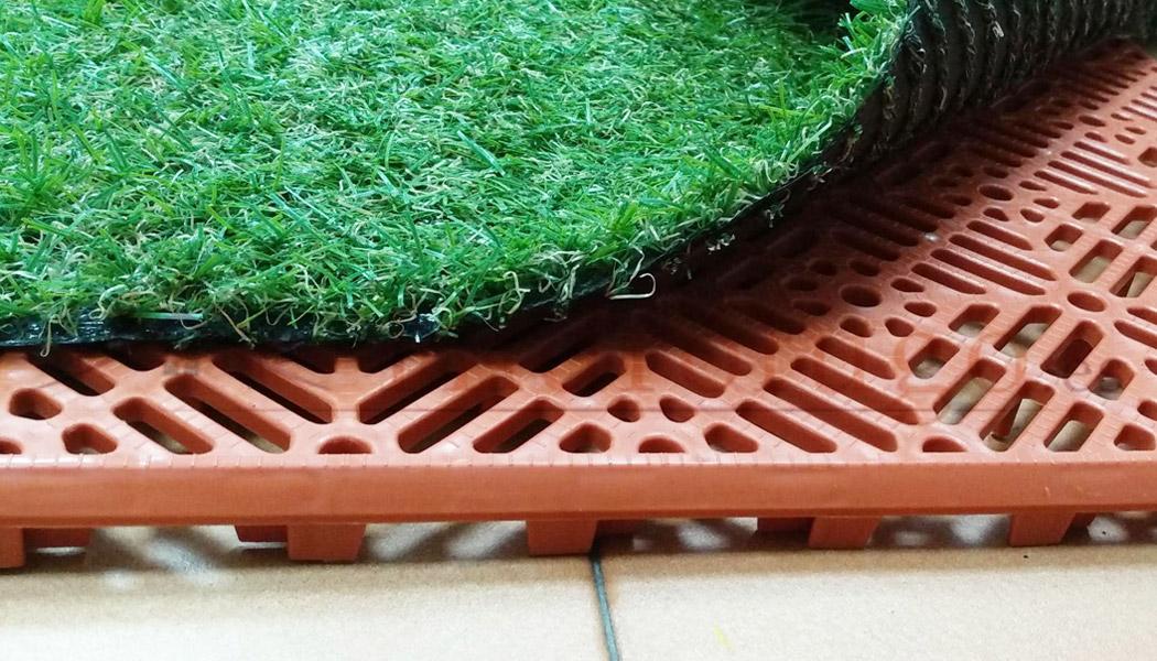 Loseta polipropileno antihumedad color terracota